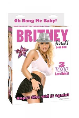Poupée gonflable Britney  : Poupée gonflable à l'image de  Britney Bitch avec 3 orifices utilisables.